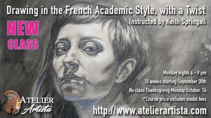 drawing in the French Academic Style, with a twist