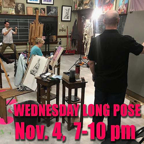 Long Pose Wed Nov. 4, 7 - 10 pm