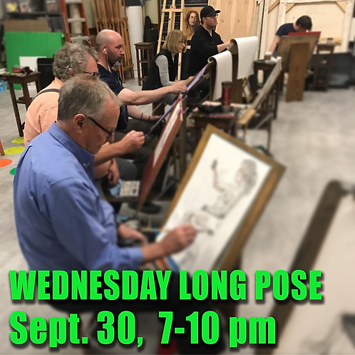 Long Pose Wed Sept. 30 7 - 10 pm