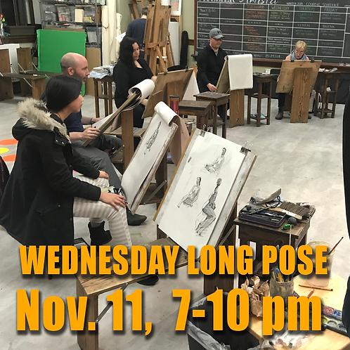 Long Pose Wed Nov. 11, 7 - 10 pm