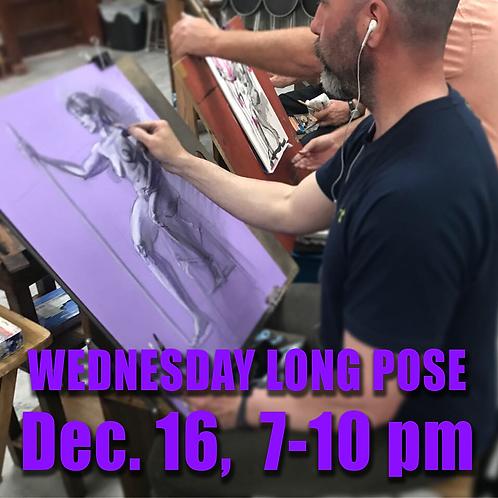 Long Pose Wed. Dec. 16, 7 - 10 pm