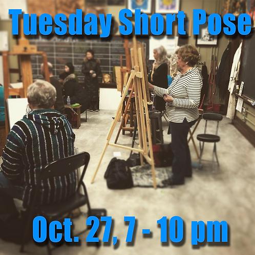 Short Pose session Oct. 27, 7-10