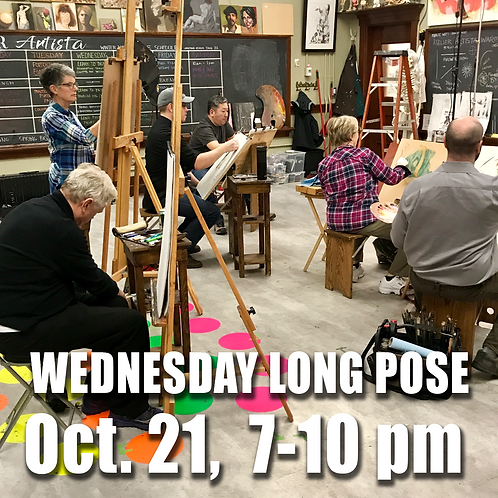 Long Pose Wed Oct. 21, 7 - 10 pm