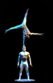 Duo Vector one handstand on head