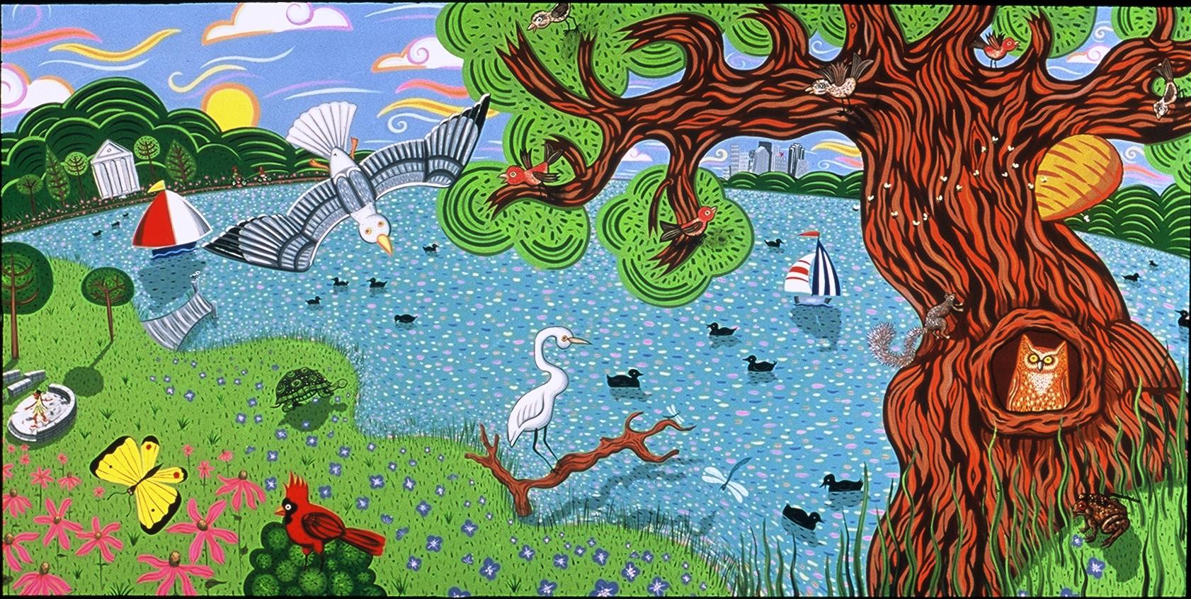 White Rock Lake with Egret