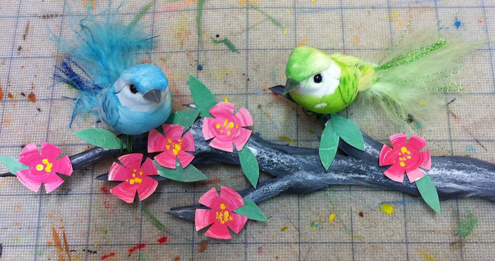 fake birds.JPG