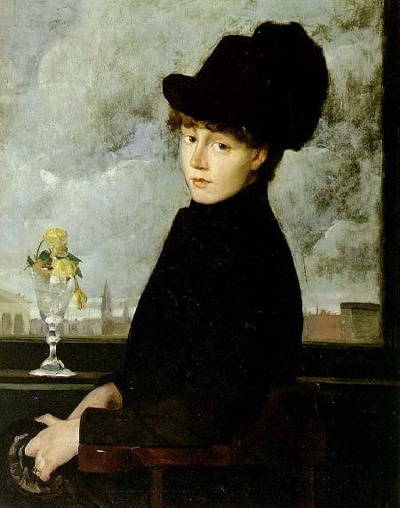 Against the Window, J. Alden Weir, 1884