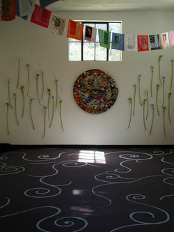 installation view with painted floor