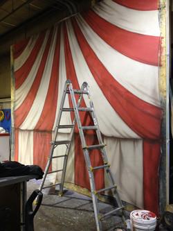 circus tent photo op
