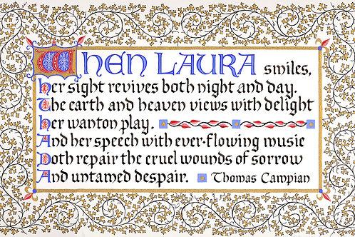 When Laura Smiles Print