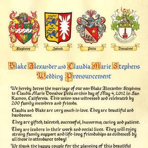 Coat of Arms Wedding Pronouncement