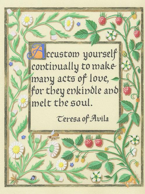 Teresa of Avila Quote Print