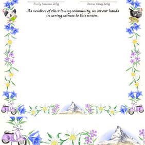 Wedding Certificate with the Matterhorn