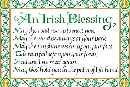 An Irish Blessing Print