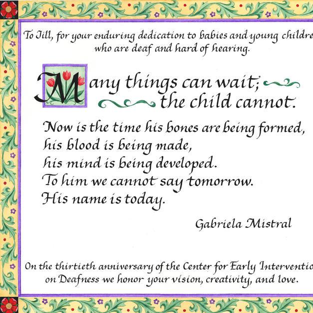 Poem by Gabriela Mistral