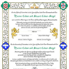 Medieval-style Wedding Certificate