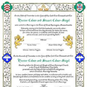 Medieval Wedding Certificate
