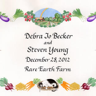Wedding Announcement with vegetables