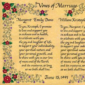 Tudor Rose Wedding Certificate