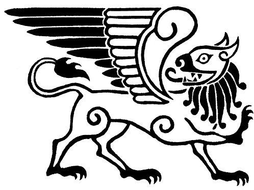 Celtic Gryphon Print