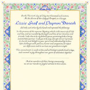 Persian Wedding Certificate