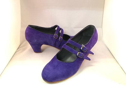 38.0 太幅B マヌエラ スエード 紫 クラシコ 5cm 巻革 Y591