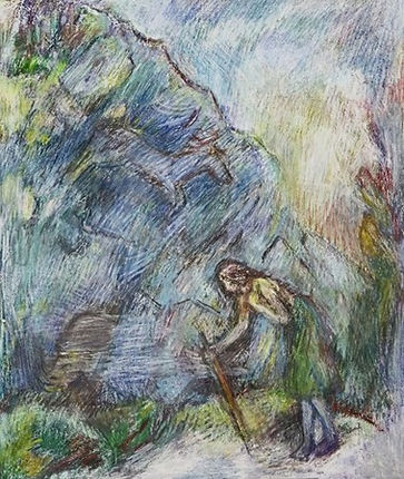 Grotte in the Pyrenees, 2014, Oil on Pap