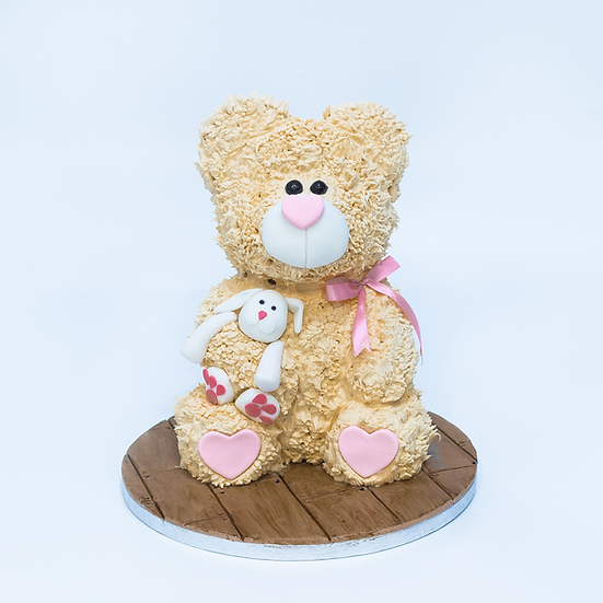 Icing Piped Teddy Bear Cake