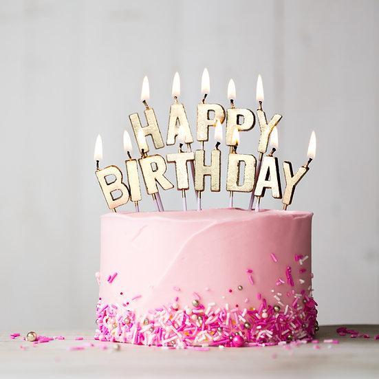 Plain Buttercream Cake with Sprinkles