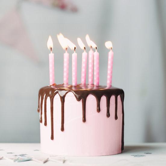 Pink Iced Cake with Chocolate Drip