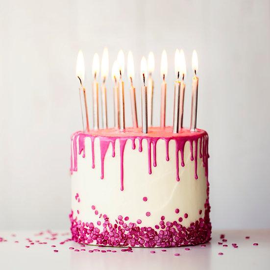 Plain Drip Cake with Sprinkles