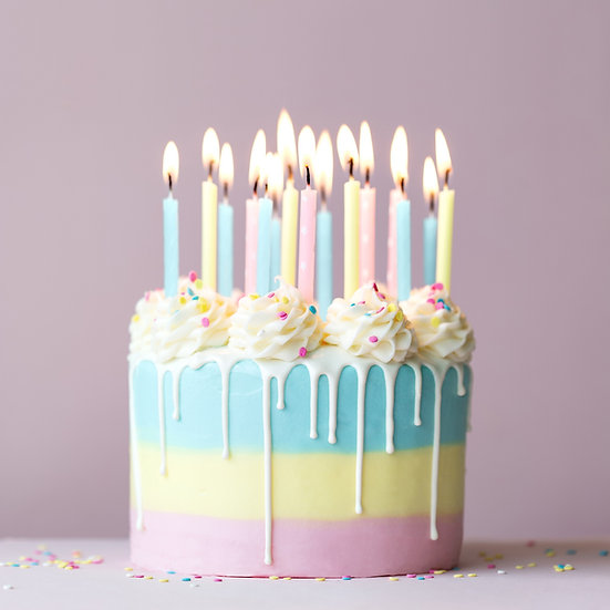 Pastel Birthday Cake with a Drip