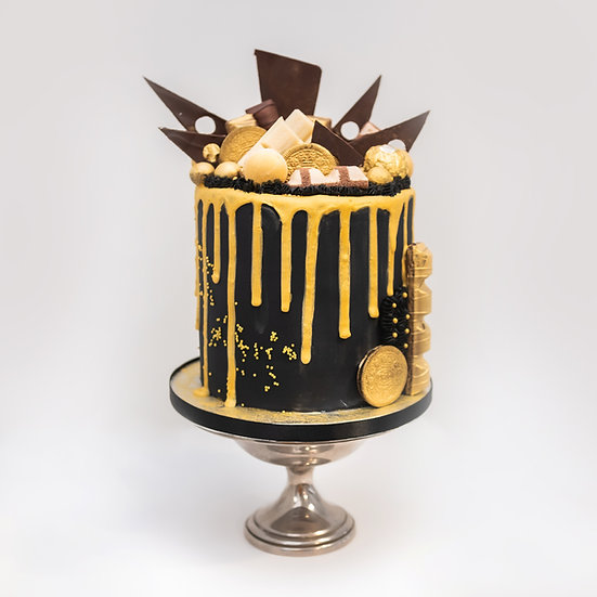 Drip Cake with Chocolate Shards and Chocolates