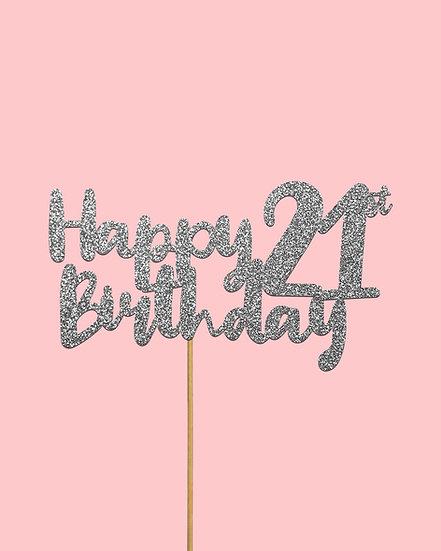 Happy 'Milestone' Birthday Cake Topper