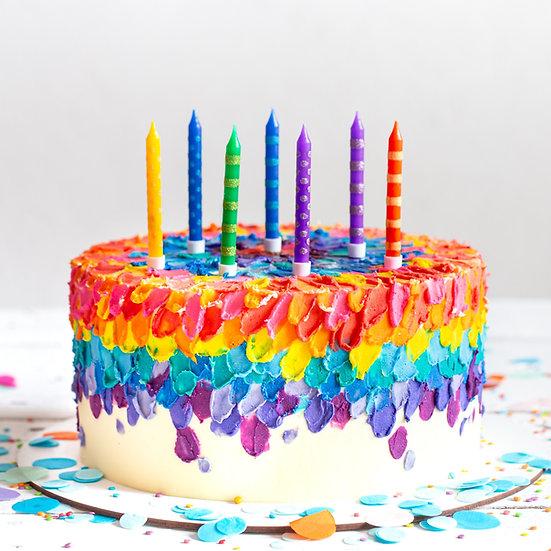 Rainbow Iced Cake