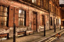 London Hugenot houses at dawn