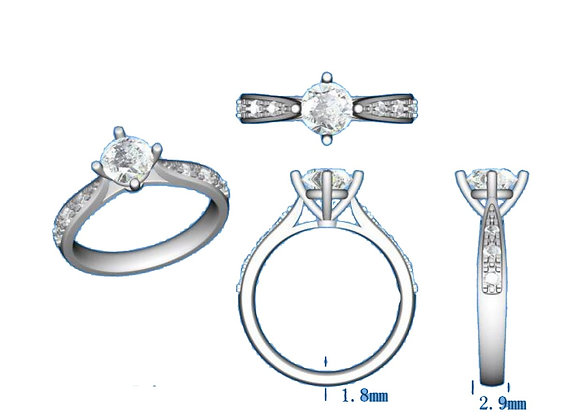 SOLITAIRE PAVE XR