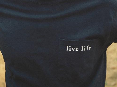 Live Life Like Michael Grey T-shirt with pocket