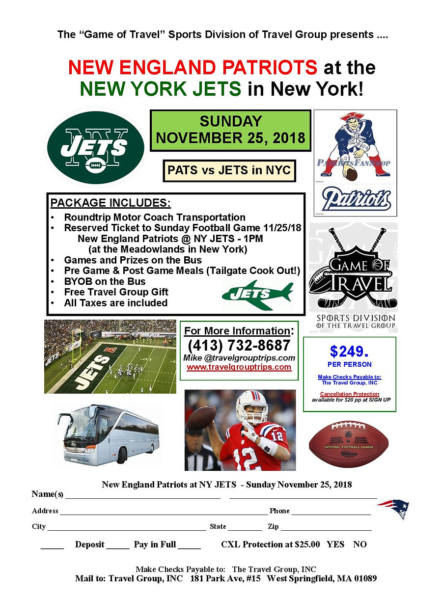 112518 Patriots at New York JETS GAME OF
