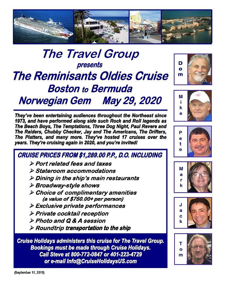 Reminisants 2020 Cruise Flyer - TTG Vers