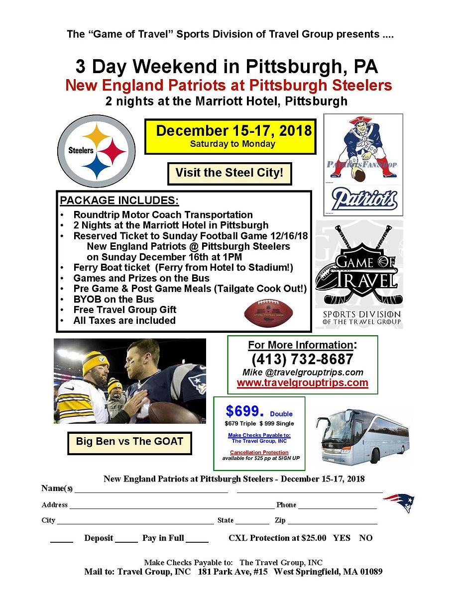 121618 Patriots at Pittsburgh GAME OF TR