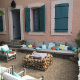 Lounge bij het huis