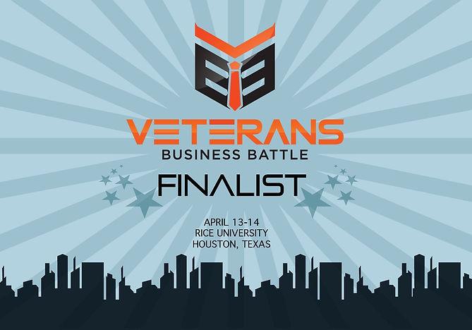 Veterens Busines Battle Finalist Graphic