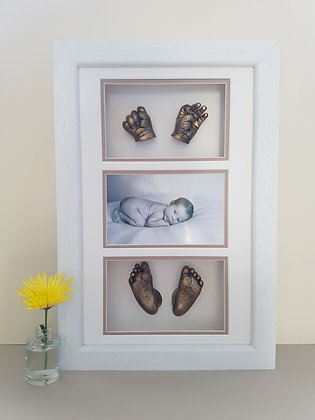 Framed Feet, Hands and Photo