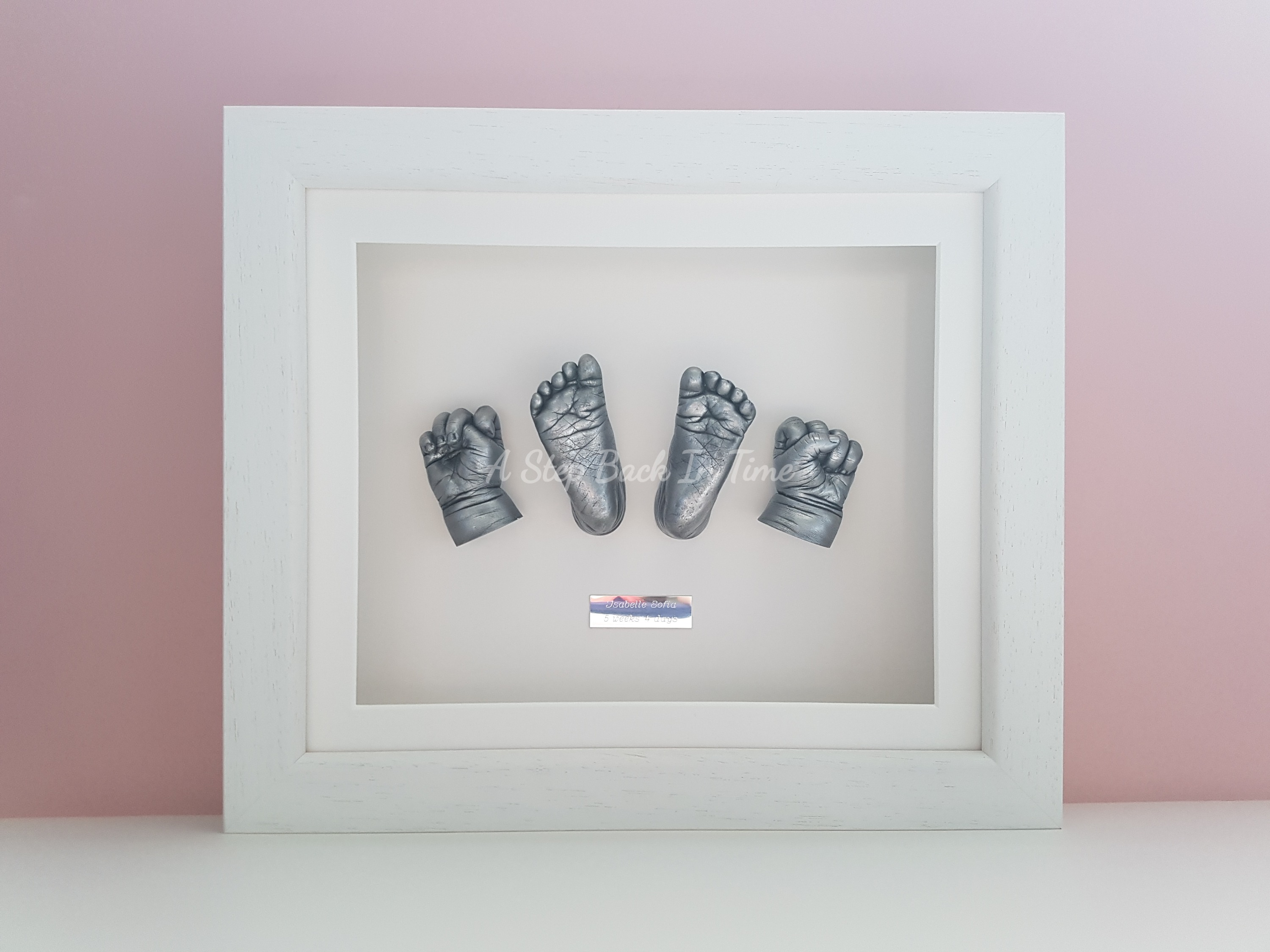 Baby Hands and Feet Cast and Framed