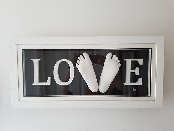 Framed LOVE Feet - from