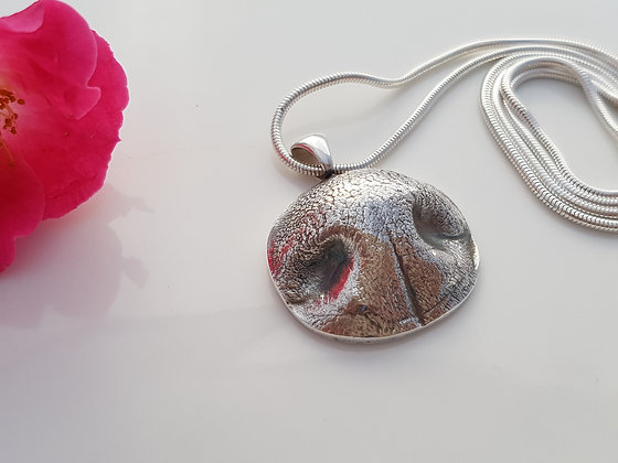 YOUR dog's nose in silver (Necklace)