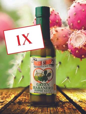 Green Habanero Nopal Prickly Pear Cactus Pepper Sauce 50 ml