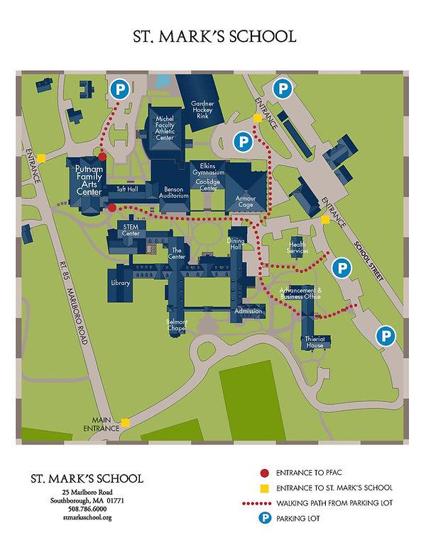 St. Mark's Putnam Family Arts Center Map