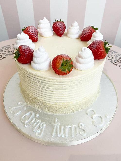Vegan Strawberry Vanilla Cream Cake